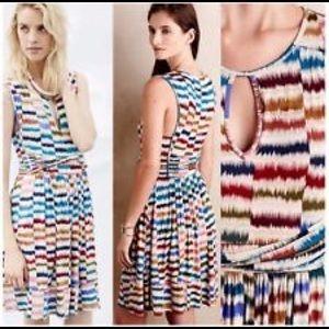 Anthropologie Maeve Sennebec Print Knit Dress
